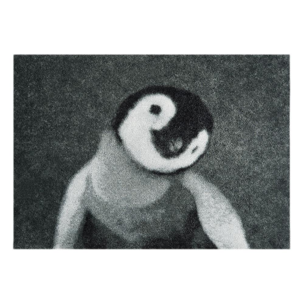 Sivá rohožka Mint Rugs  StateMat Penguin, 50x75cm