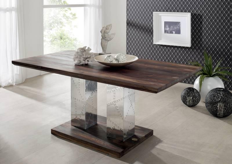 Masiv24 - PLAIN SHEESHAM jedálenský stôl 220x100 olejovaný indický palisander, sivá