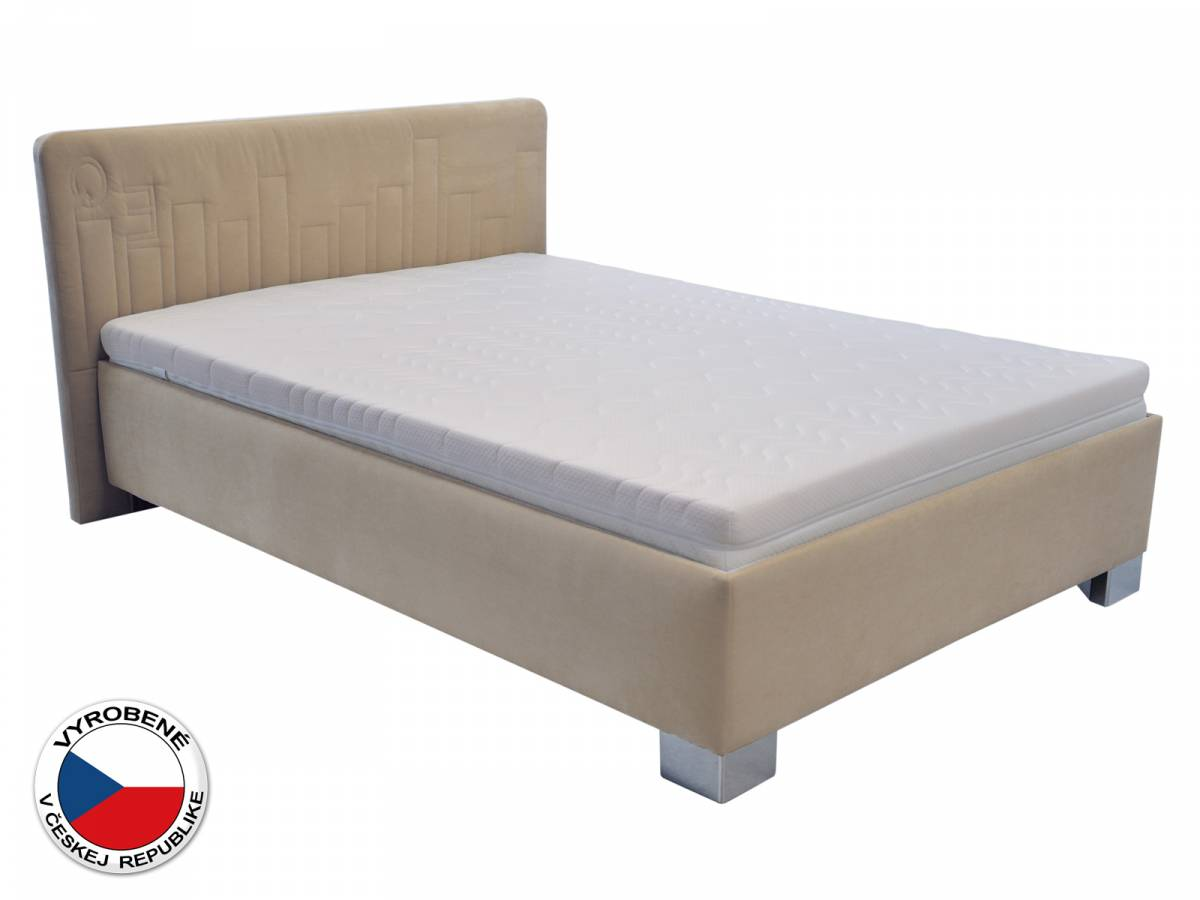 Manželská posteľ 140 cm Blanár Dona (béžová) (s roštom a matracom)