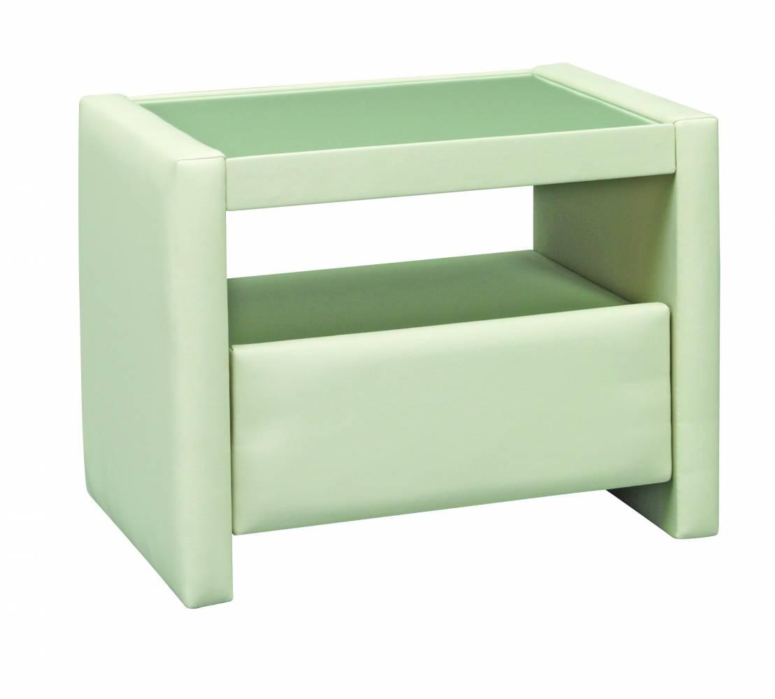 PreSpánok Holly - čalúnený nočný stolík 40x53x39 cm cm