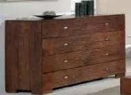 Furniture nábytok  Masívna komoda so 4 veľkými zásuvkami z Palisanderu  Rádhika  135x50x90 cm