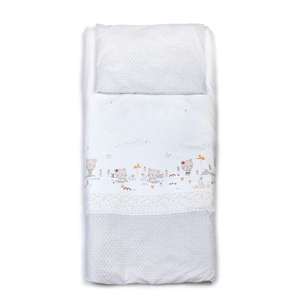 Detské bavlnené obliečky YappyKids Little Bear, 100×135 cm