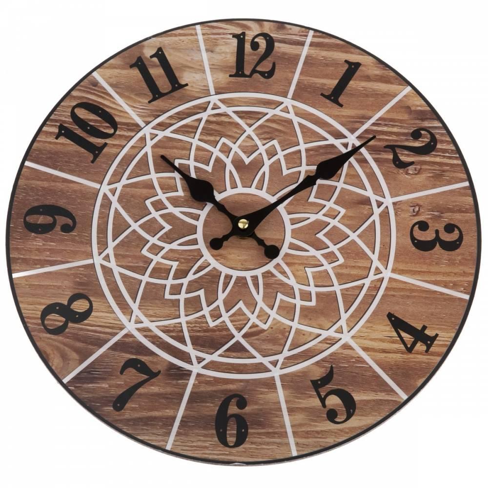 Nástenné hodiny Mandala 34 cm, natural