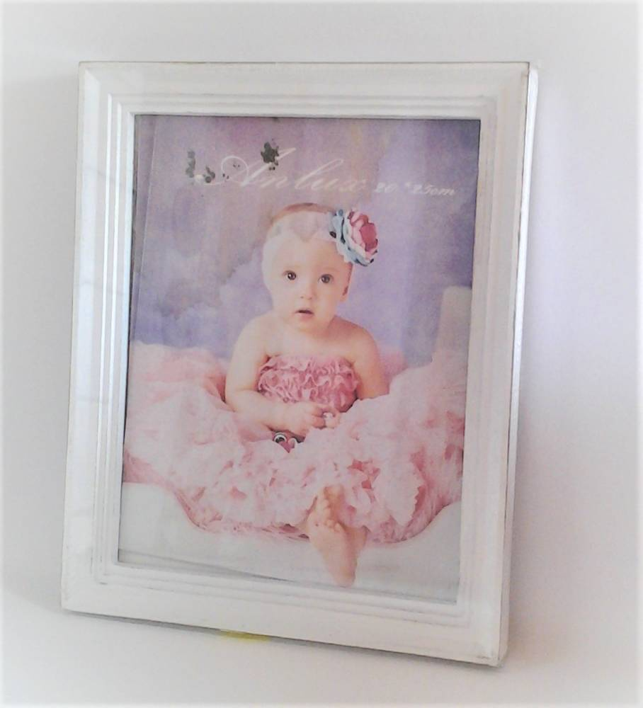fotorám biely vintage 23 x 28 cm
