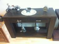 Furniture nábytok  Masívny toaletný stolík  z Palisanderu Behnám  115x40x76 cm