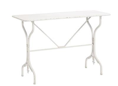 Bighome - Záhradný stôl ANTIQUE - biela