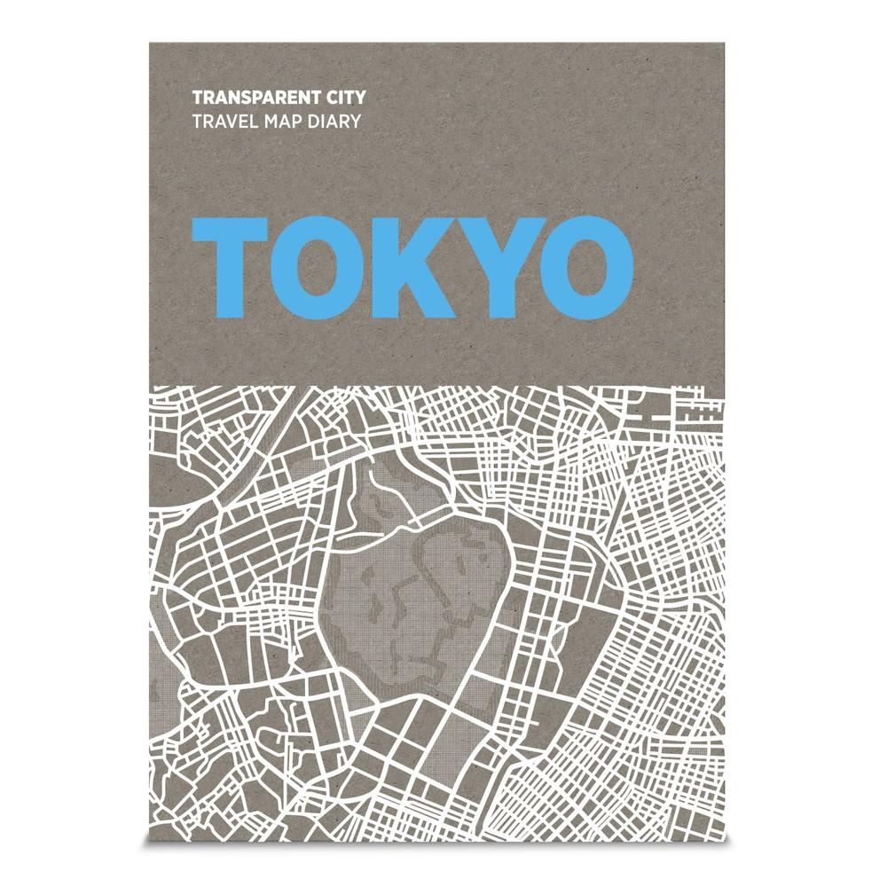 Mapa na popisky Palomar Transparent City Tokyo