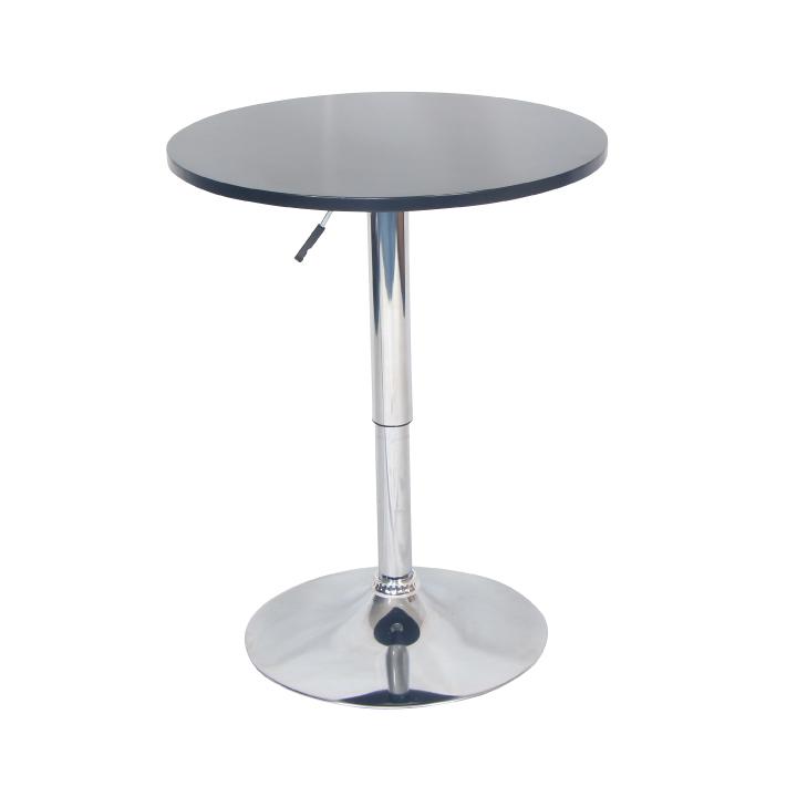 TEMPO KONDELA Barový stôl s nastaviteľnou výškou, čierna, BRANY New