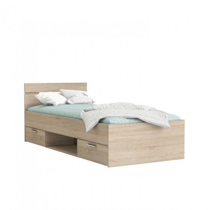 TEMPO KONDELA MICHIGAN 90 posteľ - dub sonoma