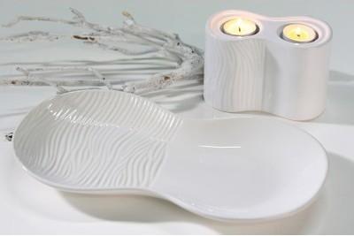 Dekoratívny tanier CARV, 35 cm - biela