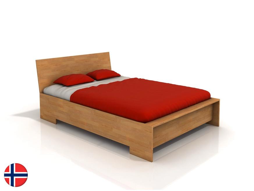Manželská posteľ 160 cm Naturlig Lekanger High (buk) (s roštom)