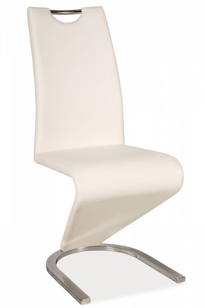 Jedálenská stolička H-090 (ekokoža biela)