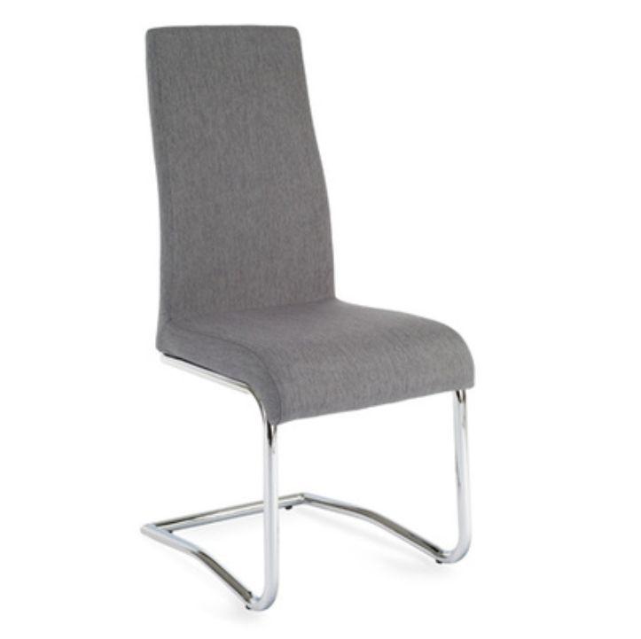 Jedálenská stolička Amina (svetlosivá)