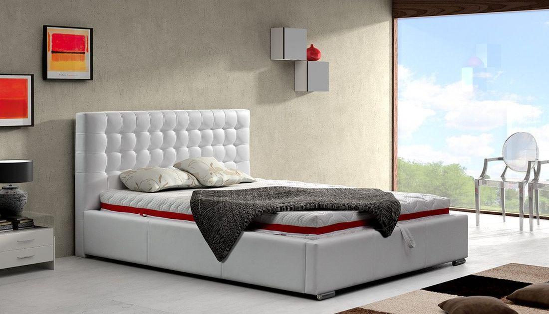 Luxusná posteľ ALFONZO, 160x200 cm, madrid 165 + úložný priestor