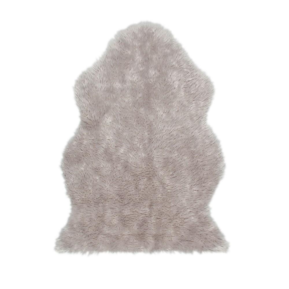 Sivý koberec z umelej kožušiny Eko Rugs Tekli, 70 x 100 cm