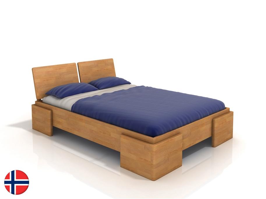 Manželská posteľ 200 cm Naturlig Jordbaer High (buk) (s roštom)