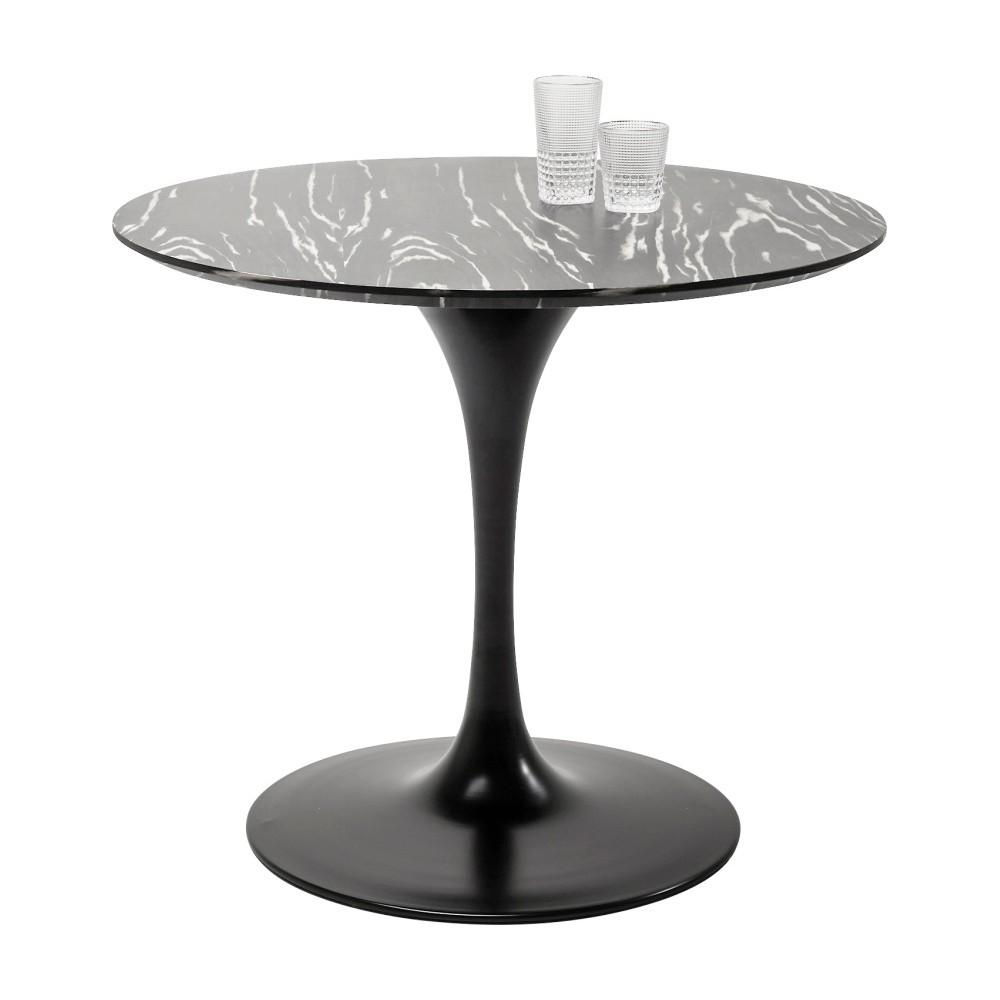 Doska jedálenského stola v ebenovom dekore Kare Design Invitation, ⌀ 90 cm