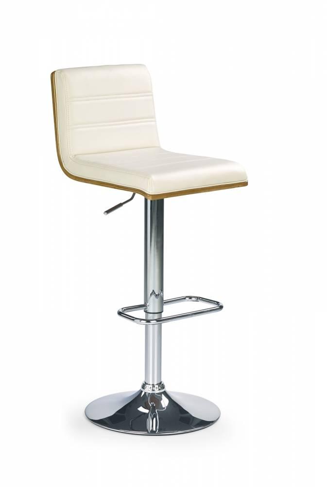 Barová stolička H-31 Orech + krém