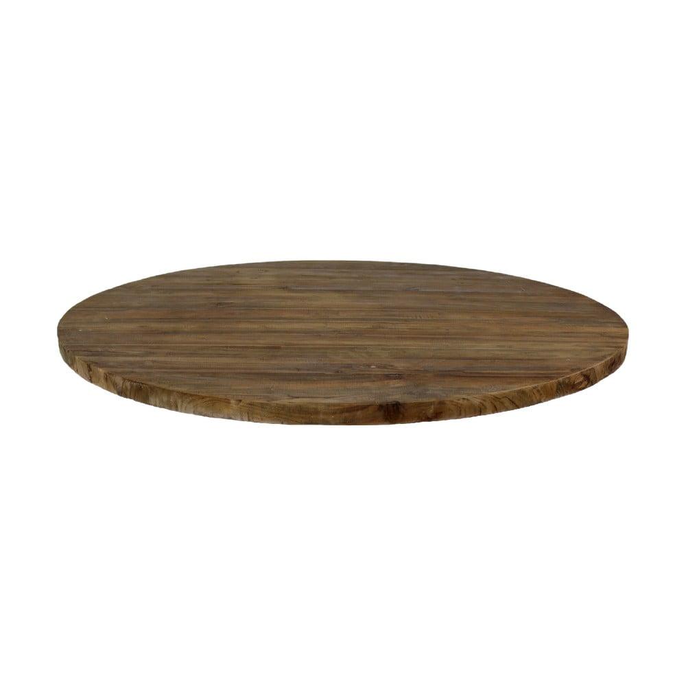 Guľatá doska jedálenského stolu z teakového dreva HMS collection, ⌀ 150 cm