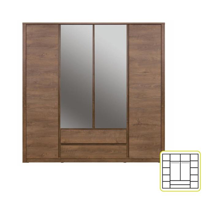 Skriňa so zrkadlom MONTE / typ 23