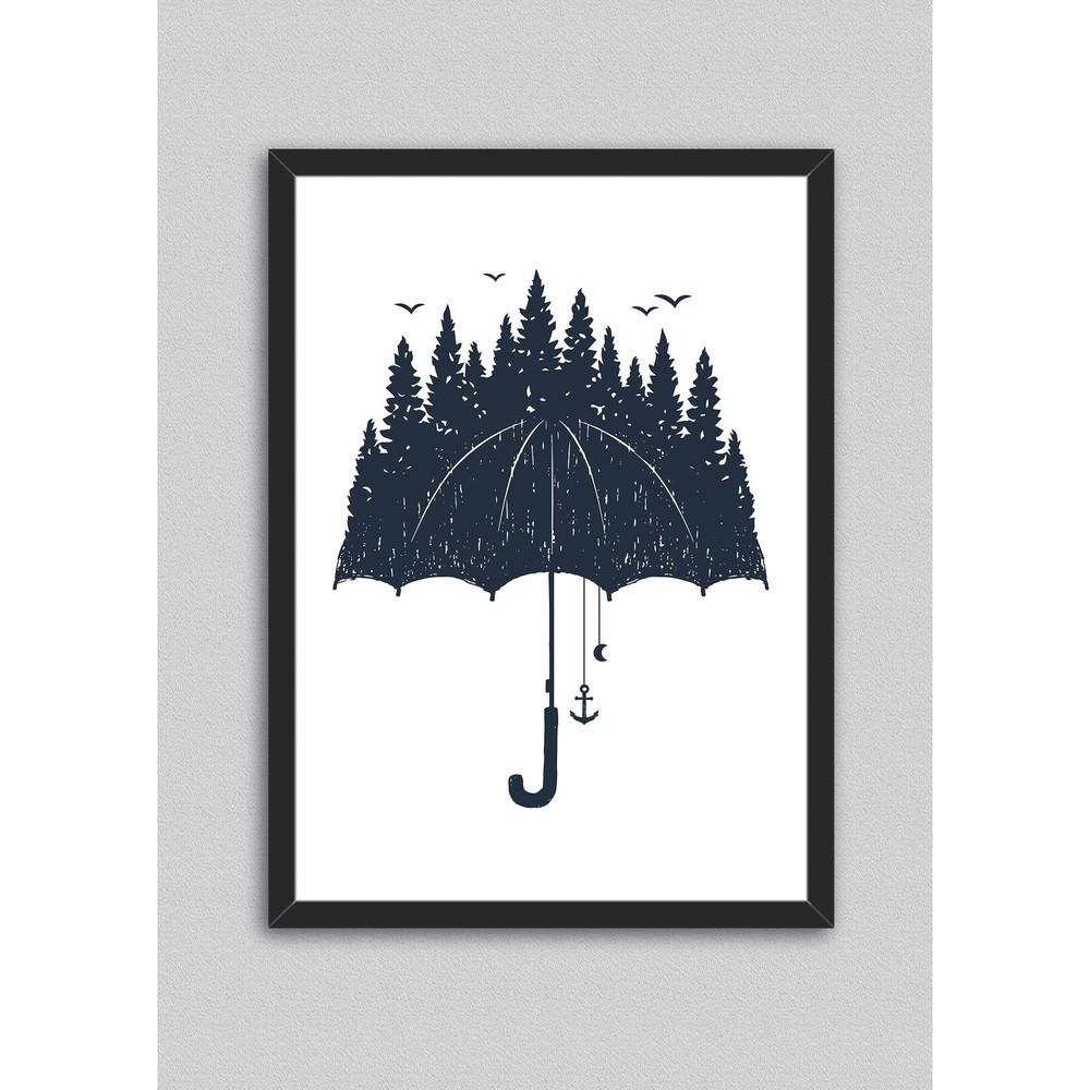 Plagát v ráme North Carolina Scandinavian Home Decors Rain