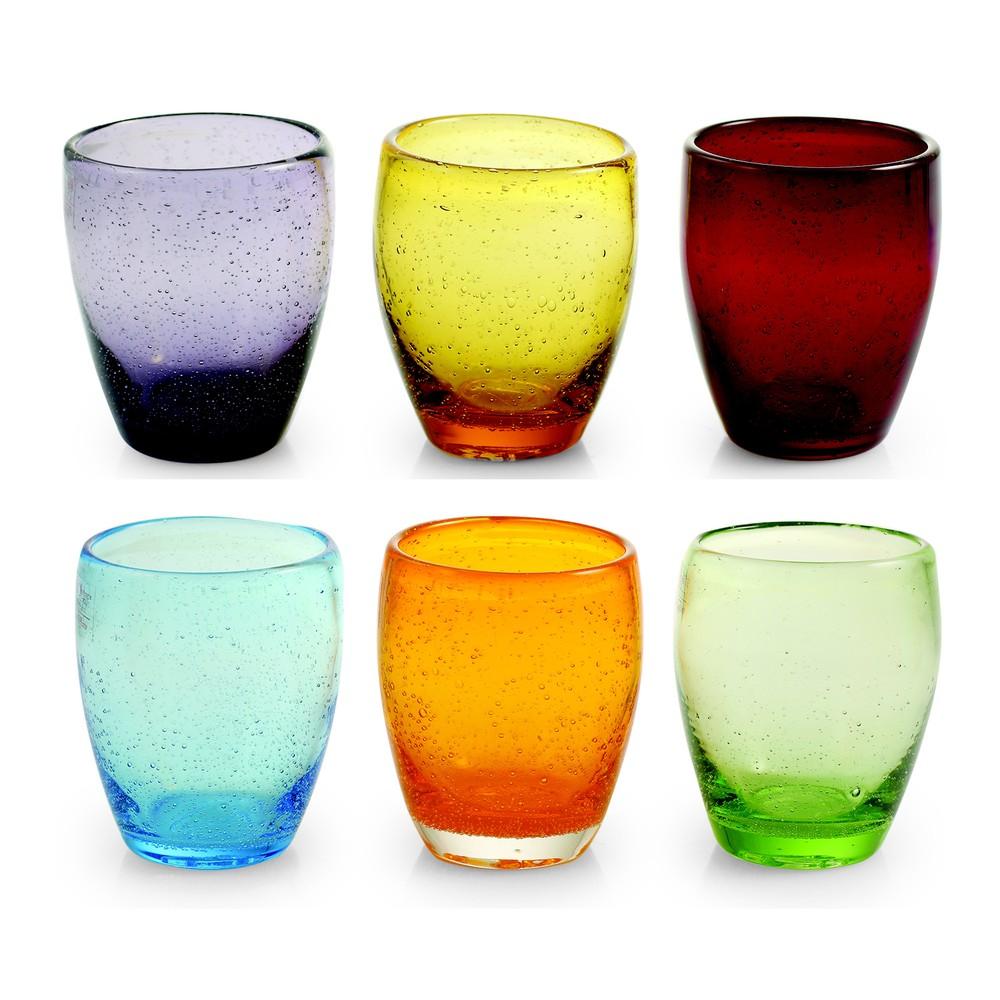 Sada 6 pohárov Villa d'Este Rainbow