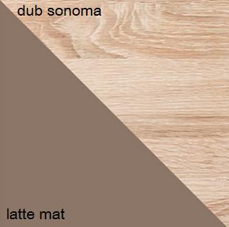 Šatníková skriňa CARMELO C22   Farba: Dub sonoma / latte mat