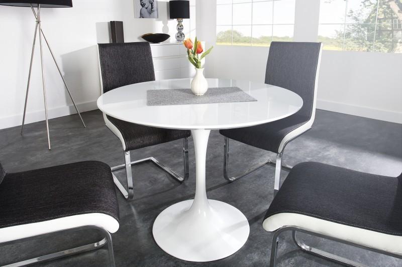 Jedálenský stôl SIGNU 90 cm - biela