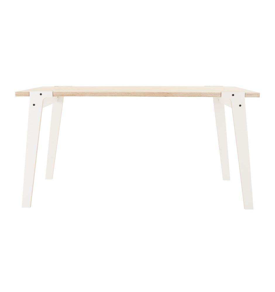 Biely jedálenský/pracovný stôl rform Switch, doska 150x75cm