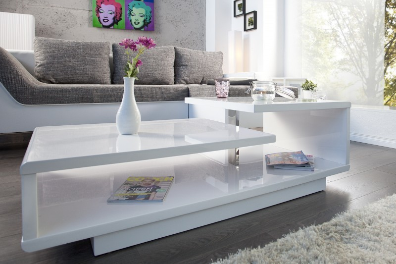 Konferenčný stolík CONDET - biela