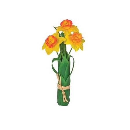 Umelé kvety, zväzok narcisov
