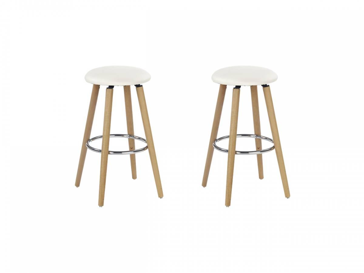 Set 2 ks. barových stoličiek H-76 (krémová) *výpredaj
