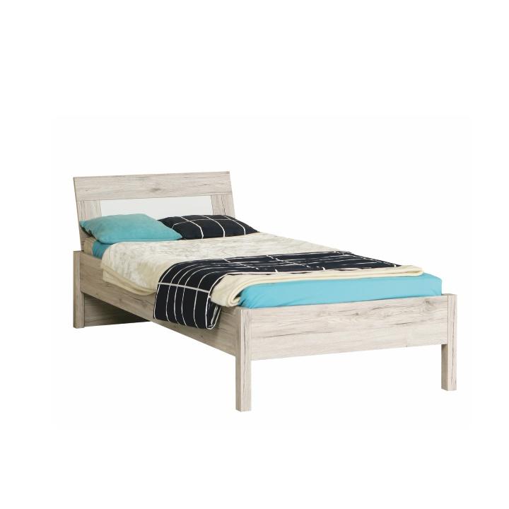 TEMPO KONDELA VALERIA 09 90 posteľ - dub pieskový / biela