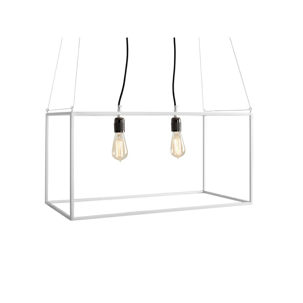 Biele závesné svetlo pre 2 žiarovky Custom Form Metric
