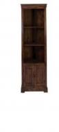 Furniture nábytok  Masívna rohová polica z palisanderu so skrinkou  Achtar  79x56x180 cm