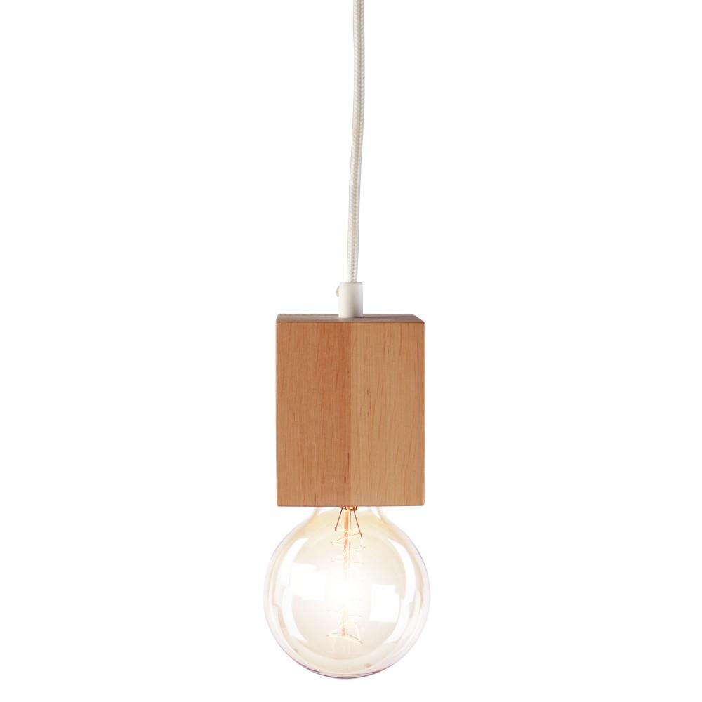 Závesné svietidlo z jelšového dreva Nørdifra Blocks