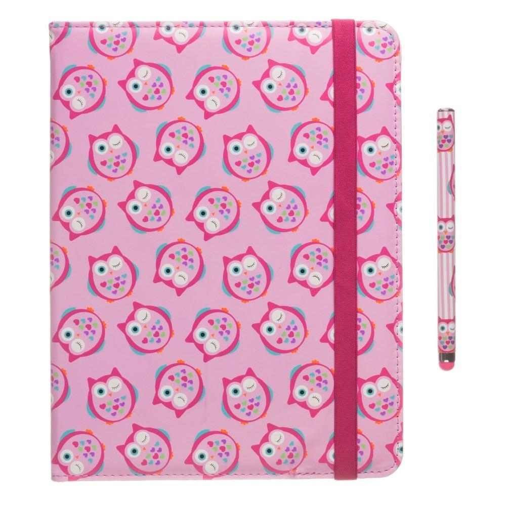 Detský set puzdra so stojančekom, stylu a univerzálnej fólie My Doodles Owl pre  tablety 6-8