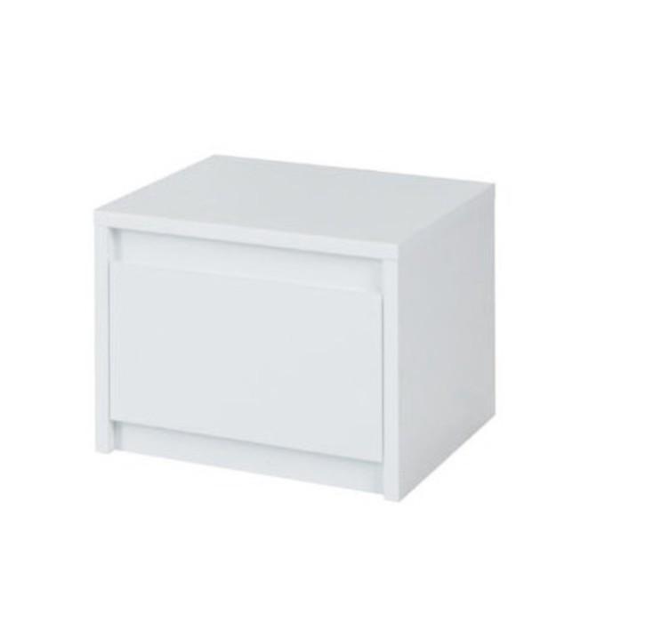 TEMPO KONDELA 2x nočný stolík, biela/extra vysoký lesk HG, ITALIA