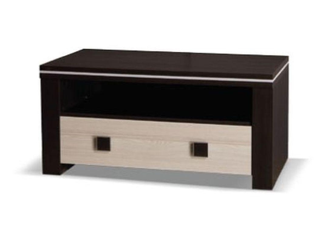 Televízny stolík WINNER 96, 47x96x50 cm, wenge/jaseň