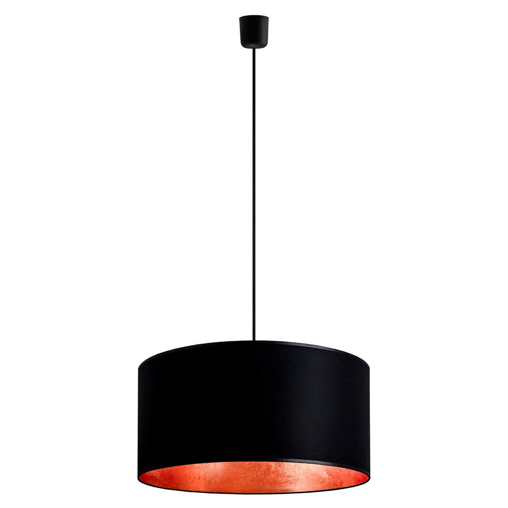 Čierno-medené závesné svietidlo Sotto Luce Mika, Ø 50 cm