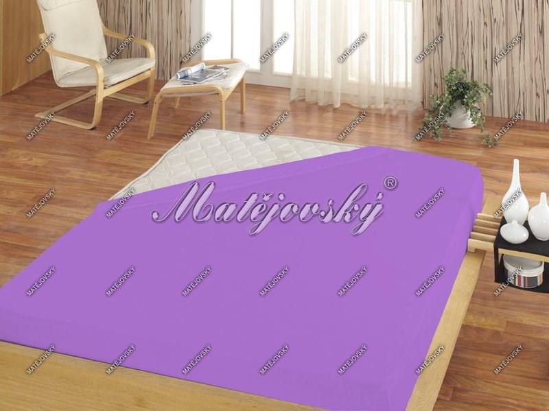 Matějovský prestieradlo Jersey svetlo fialová, 160 x 200 cm
