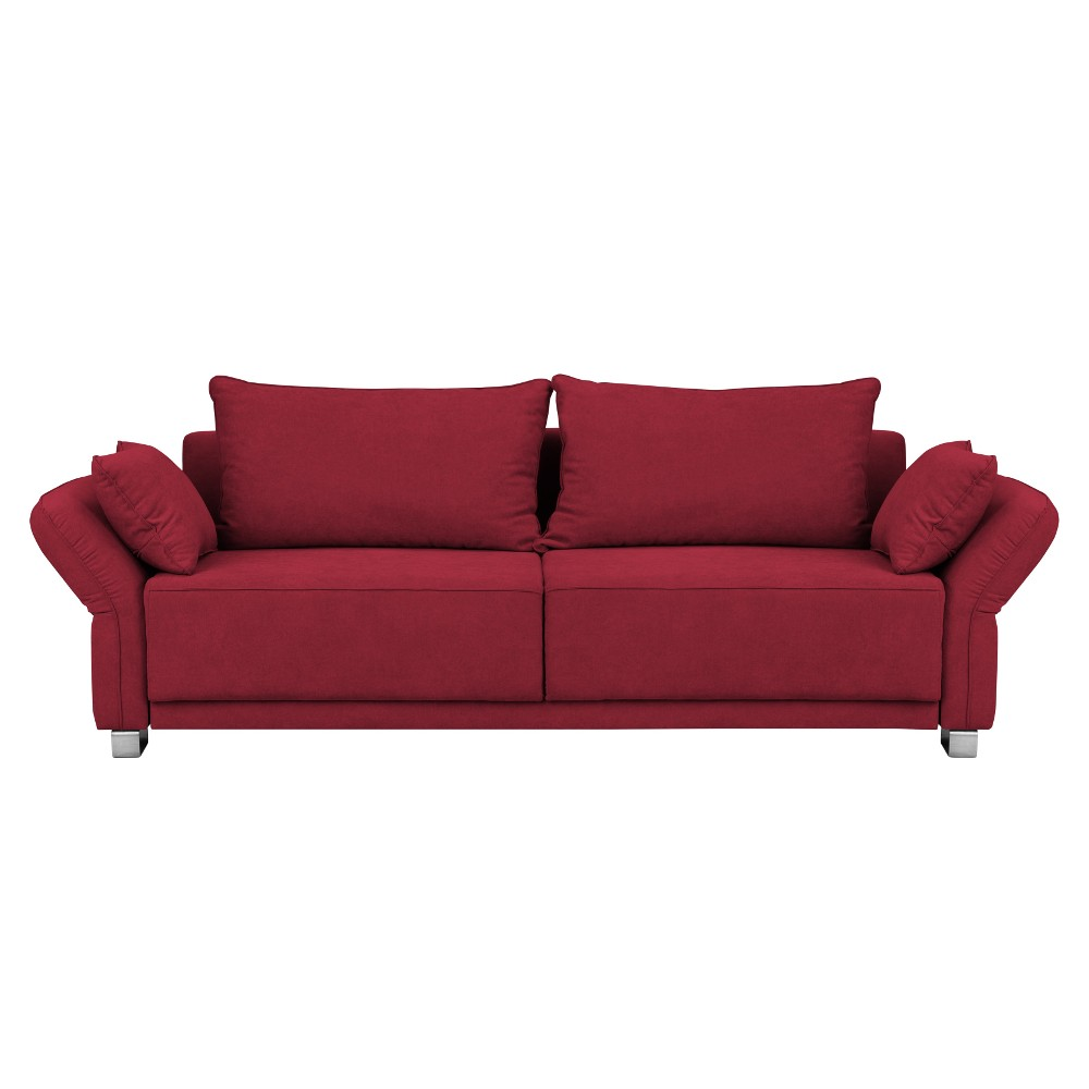 Červená trojmiestna rozkladacia pohovka Windsor & Co Sofas Casiopeia