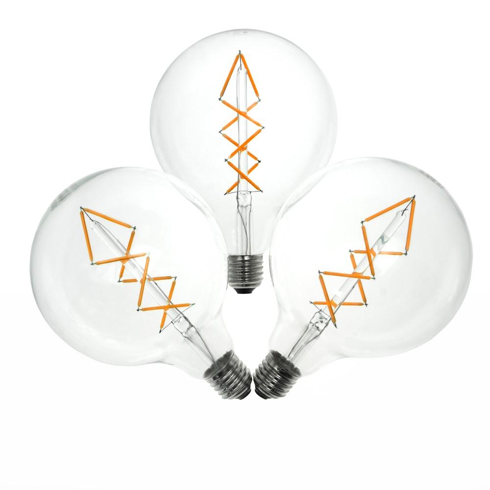 Sada 3 LED žiaroviek Bulb Attack BUBBLE Lattice, 6,5 W