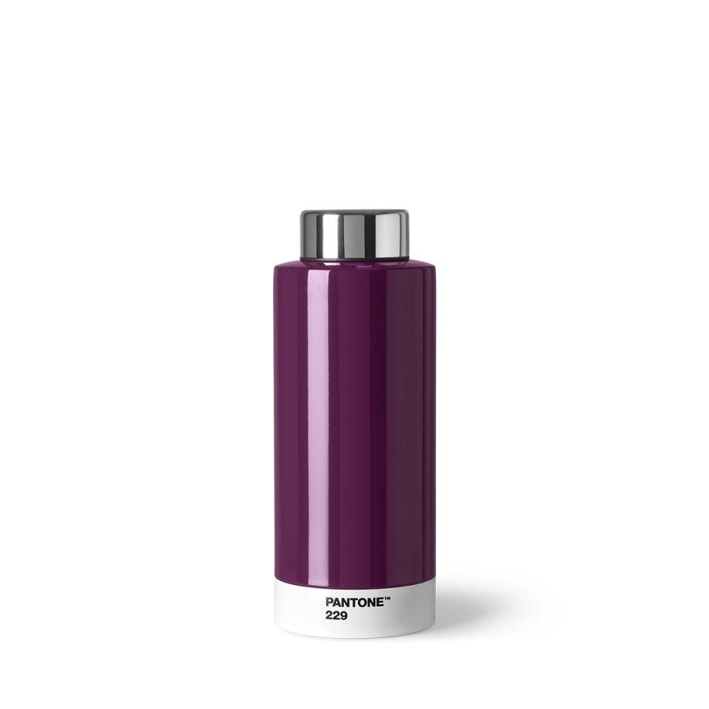 Tmavofialová fľaša z antikoro ocele Pantone, 630 ml