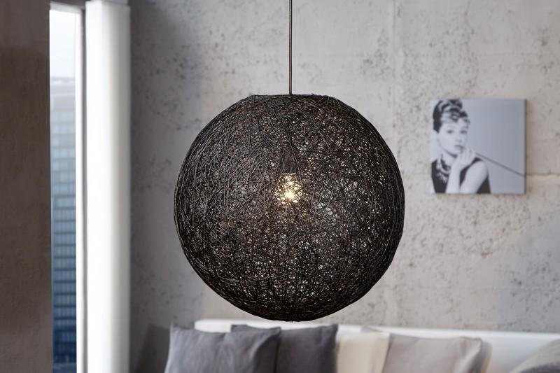 Visiaca lampa VOLANS - čierna