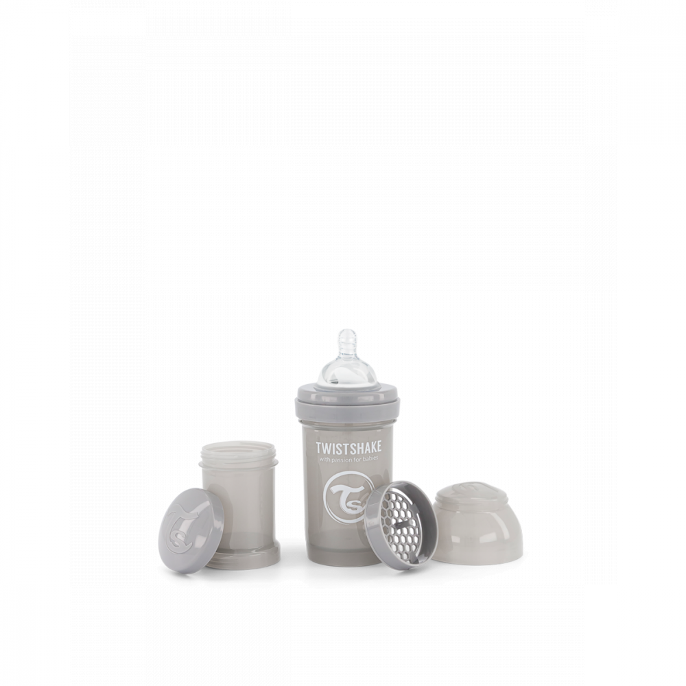 Twistshake Dojčenská fľaša Anti-Colic 180 ml, sivá