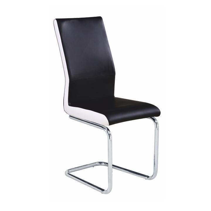 Jedálenská stolička Neana (čierna + biela)