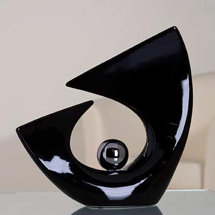 Dekoratívna soška BALANCE BALL -  čierna