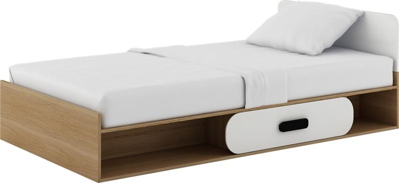Jednolôžková posteľ 90 cm Gusto G-12 (s roštom a matracom)