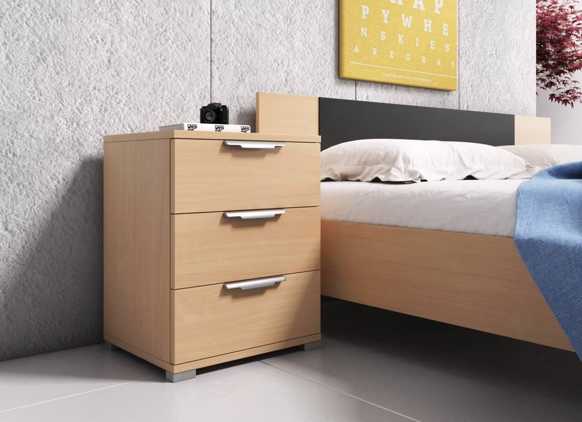 Nočný stolík Naka 3S (buk)
